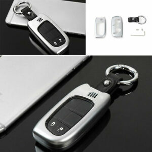 Car Key Case Shell Protective Cover Zinc Alloy Silver For Jeep Cherokee 2014 20