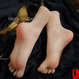 New Female Silicone Lifesize Mannequin Foot Model Display Model Prop Size 37 1pc