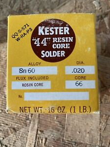 Kester 44 Rosin Core Solder Sn60 020 In 1lb Spool Welding Equipment