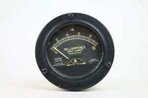 Hickok 56r Milliamperes Dc Panel Meter Range 0 10 Black