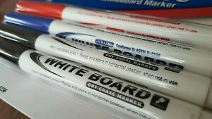 4 Dry Erase Whiteboard Markers