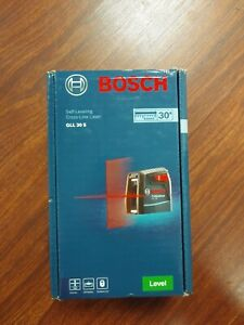 Bosch Gll 30 S Self Leveling Cross Line Laser Level W Flexible Mount 30ft New