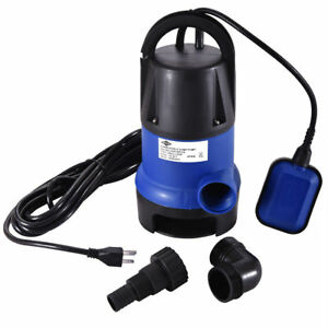 Water Pump Submersible 1 2 Hp 2000gph Clean Swimming Pool Pond Dirty Flood
