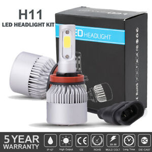 2 Bulbs H11 H8 H9 Led Headlight Kit Combo 2600w 390000lm High Low Beam 6000k