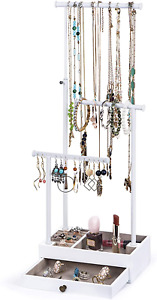 Love kankei Necklace Holder Jewelry Tree Stand Adjustable Height With Large Stor