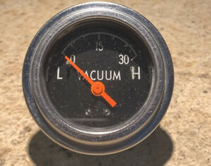 Vintage Vacuum Gauge 2 Electric Borg Warner