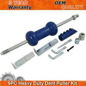 Dent Puller Slide Hammer 9pc 5lb Auto Body Repair Dent Tool Kit Auto Truck