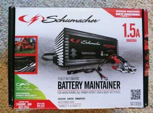 Schumacher Sc1355 6 12v 1 5a Battery Charger And Maintainer 120v