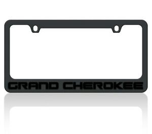 New Black Carbon Steel Jeep Grand Cherokee Black Word License Plate Frame