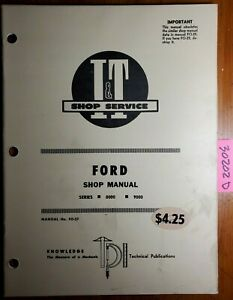 I t Ford 8000 9000 Series Tractor Shop Service Manual Fo 27 1971