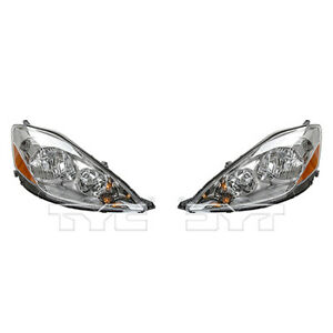 Fits 2006 2010 Toyota Sienna Headlight Pair Driver And Passenger Side Dot