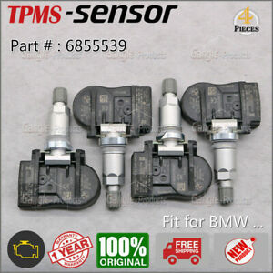 4x New Tpms Tire Pressure Monitor Sensor For Bmw 36106856209 6855539 Tpm222
