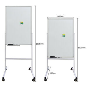 Hv2613 Mobile Whiteboard Magnetic Dry erase Double Sided Board W stand Office