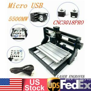 5500mw Desktop Mini Laser Cnc Engraving Machine Pvc Wood Carving Milling Tool