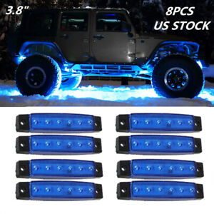 Us 8pcs Led Side Marker Lights Signal Lamp Car Accessories For Truck boat pickup