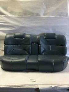 1996 Roadmaster Rear Leather Bench Seat Adriatic Blue Leather Trim Code 30i