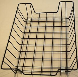 Single Black Metal Office Letter Tray Basket