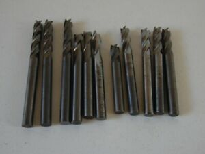11 1 4 Fluted Carbide End Mills Usa Made lot Of 11 Pcs 6 New 5 Lightly Used