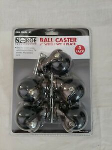 Ball Caster 2 Inch Wheels With Plate 5 Pack