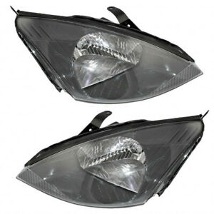 Fits 2003 2004 Ford Focus Headlight Pair Side dot