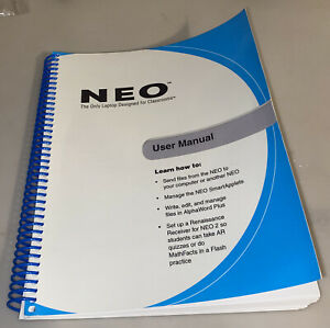 Alphasmart Neo 1 2 Guide Users Manual Renaissance Learning