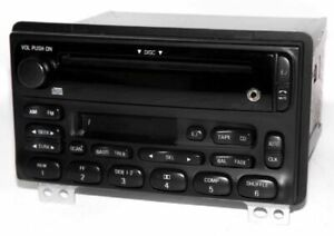2001 Ford Mustang Radio Am Fm Cs Cd Player W Auxiliary 3 5 Input 2l2t 18c868 Da