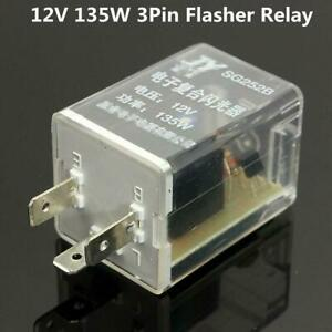 12v 3pin Car Led Light Flasher Relay Turn Signal Rate Control Blinker Relay 135w