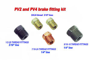 Brake Line Fittings Kit Pv2 And Pv4 Brass Proportioning Blocks 5 Steel Fittings