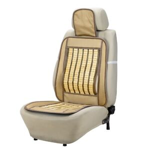 1x Us Summer Breathable Bamboo Car Cushion Back Support Waist Massage Seat Cover