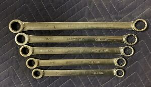 Matco Tools Ratcheting Sae Box End Wrench Set 5pcs 1 2 To 3 4