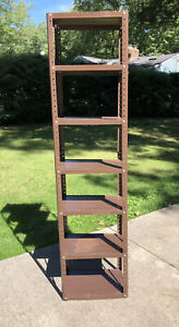 Vintage Narrow Steel Shelving Unit Garage Industrial Shelf Stand Storage Rack