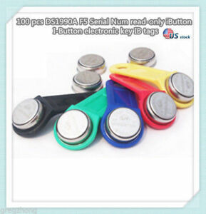 100 Pcs Ds1990a F5 Serial Num Read only Ibutton I button Electronic Key Ib Tag u