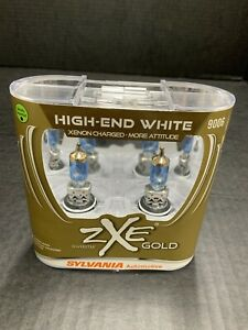 Sylvania Silverstar Zxe Gold 9006 Pair Set Headlight Bulbs Xenon Fueled New