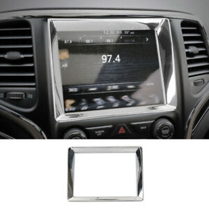 For Jeep Grand Cherokee 2014 2020 Chrome Middle Console Navigation Panel Trim
