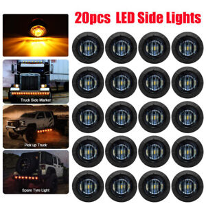 20x Smoked 3 4 Round Led Clearance Side Marker Light For Truck Trailer Rv Amber