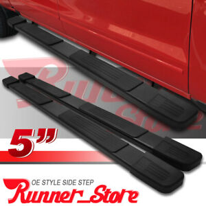 For 01 03 Ford F 150 Super Crew Cab 5 Running Board Side Step Nerf Bar Black S