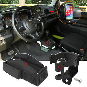 Gear Shift Storage Bag Phone Water Cup Holder For Suzuki Jimny 2019 2020 Parts