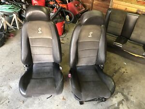 2003 2004 Ford Mustang Svt Cobra Terminator Seats Front Rear Suede Leather