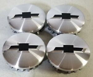 4pcs Chevy Wheel Center Hub Caps Brushed 83mm 3 25 For Suburban Silverado 14 20