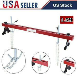 1100lbs Capacity Engine Load Leveler Support Bar Transmission W Dual Hook