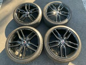 2014 2019 Corvette C7 Factory 19 20 Black Wheels Oem 5633 5639 Nexen Tires