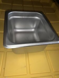 Winco Spjl 604 4 inch Deep One sixth Size Anti steam Table Pan lot Of 12