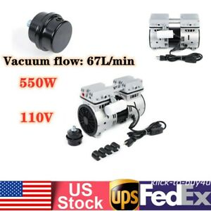 Oil free Micro Air Diaphragm Pump Electric Motor Vacuum Pump 550w 110v Usa