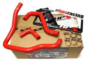 Hps Red Reinforced Silicone Heater Hose Kit For Toyota 89 95 Pickup 22re Non