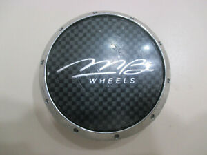 Mb Wheels Custom Center Hub Cap Chrome Black C51 58 Mb C425 V Mb6018a