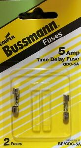 Bussmann Gdc 5a Time Delay Glass Fuse Free Shipping