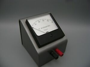 Simpson 0 500 Dc Microamperes Panel Meter With Steel Enclosure Case