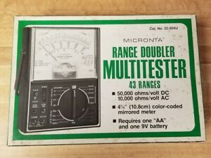 Radio Shack Micronta 22 204u Range Doubler Multi meter With Cables Manual Box