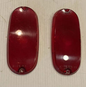 Nos 1955 1956 Chevrolet Gmc Chevy Panel Suburban Taillight Guide Lenses Pair