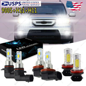 For Honda Pilot 2006 2018 Combo Led Headlight High Low Beam Fog Light Bulbs Yh